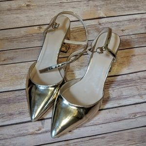 ASOS Gold Pointed Heels - 5